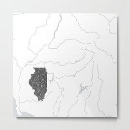 Illinois Metal Print
