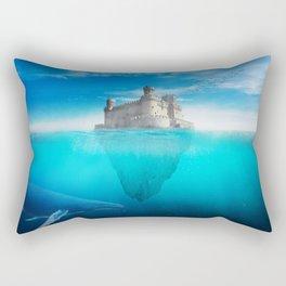 Deep Blue Ocean Rectangular Pillow