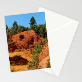 French Colorado Rustrel in Roussillon Stationery Cards