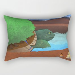 In the Valley of the Ancients Rectangular Pillow