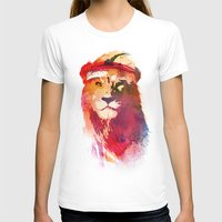T-shirts featuring Gym Lion by Robert Farkas