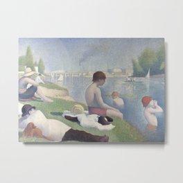 Bathers at Asnières Metal Print