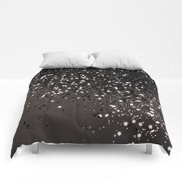 Blush Gray Black Lady Glitter #2 #shiny #decor #art #society6 Comforters