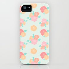 Pastel floral iPhone (5, 5s) Slim Case