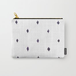 Navy and White Ikat Carry-All Pouch