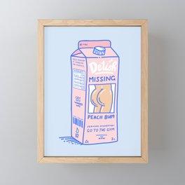 Missing Peach Bum Framed Mini Art Print