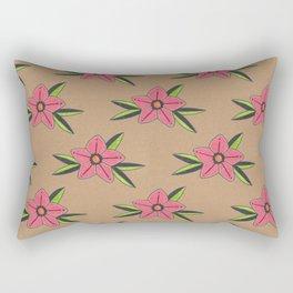 Old school tattoo flower pattern Rectangular Pillow