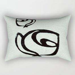 Flowers, Mother-Daughter, Mint Green Rectangular Pillow