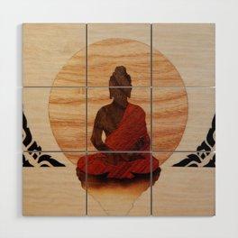 Buddha marquetry Wood Wall Art