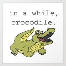 In A While Crocodile, Dark Art Print