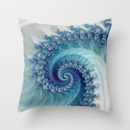 Sound of Seashell - Fractal Art Throw Pillow