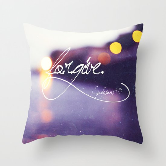 Forgive Throw Pillow