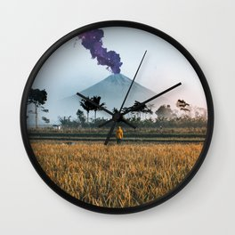 The Volcano Wall Clock