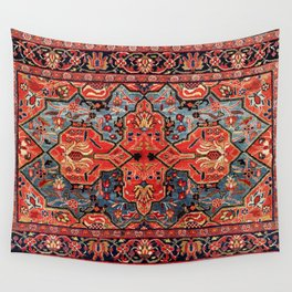 Kashan Poshti Central Persian Rug Print Wall Tapestry