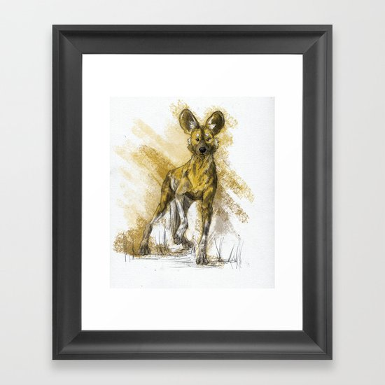 African Wild Dog Framed Art Print