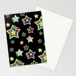Pastel Stars Stationery Cards