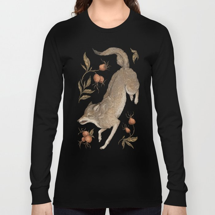 The Wolf and Rose Hips Long Sleeve T-shirt