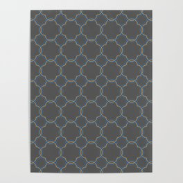 Moroccan Quatrefoil Clover Grey Poster