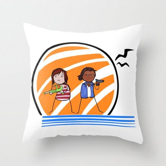 Ellie & Riley: Left Behind Throw Pillow