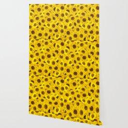 Lots of sunflowers Wallpaper