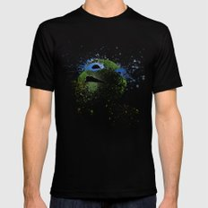 Leo Black SMALL Mens Fitted Tee