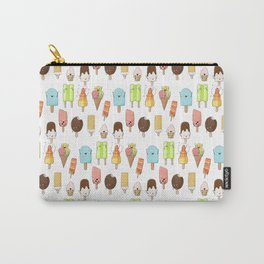 Watercolor Ice Cream Doodle Carry-All Pouch