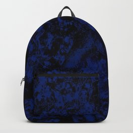 Painted Blue Backpack