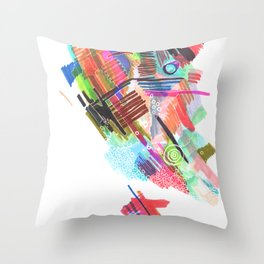 Color Continent Throw Pillow