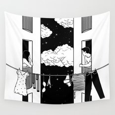 Thinking about you Wall Tapestry
