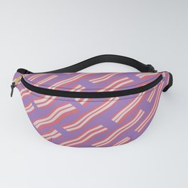 Frying Bacon Over Purple Fanny Pack