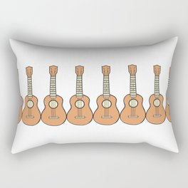 Row of Ukes Rectangular Pillow