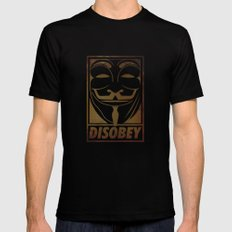 Disobey Mens Fitted Tee Black LARGE