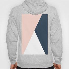 Elegant blush pink & navy blue geometric triangles Hoody