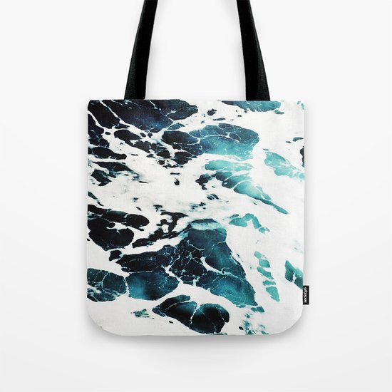 Dark Ocean Waves Tote Bag