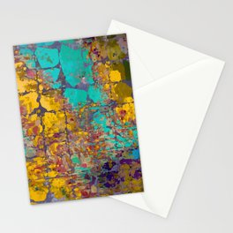 Desert Oasis Abstract Pattern Stationery Cards