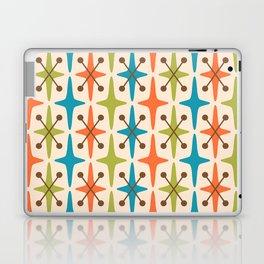 Mid Century Modern Abstract Star Pattern 441 Orange Brown Turquoise Chartreuse Laptop & iPad Skin