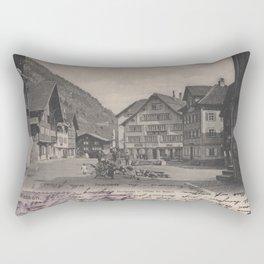 Vintage Village Plaza Rectangular Pillow