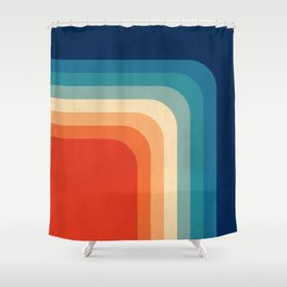 Retro 70s Color Palette III Shower Curtain