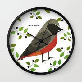 Common Redstart Wall Clock