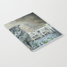 Cat on a Fence Notebook