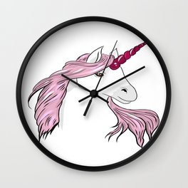 Unicorns mood Wall Clock