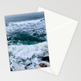Rockaway Beach Ocean Waves, Pacifica, California Coast by Christie Olstad Stationery Cards