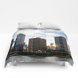 Skyline of Midtown of New York City Comforters