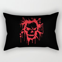 Bloody Skull | Heavy Metal Illustration Rectangular Pillow
