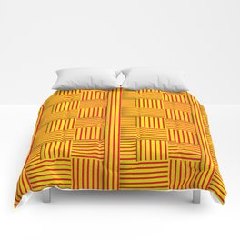 Wattle and daub wall Comforters