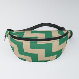 Tan Brown and Cadmium Green Steps LTR Fanny Pack