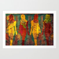 Body Language 55 Art Print