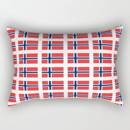flag of norway,snow,scandinavia,scandinavian, norwegian,oslo Rectangular Pillow