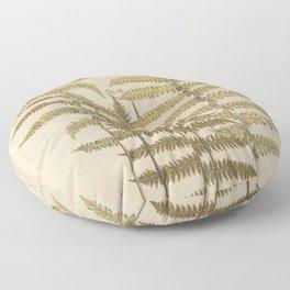 Vintage Fern Botanical Floor Pillow