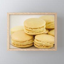 Sweet Lemon Macaron Dessert - Food Photography #Society6 Framed Mini Art Print
